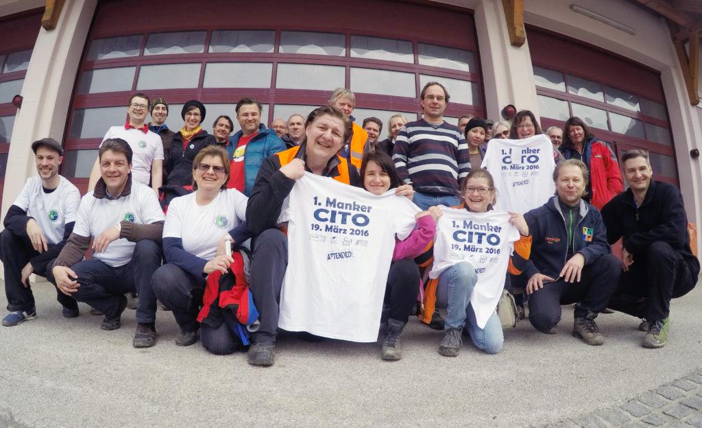 Die Teilnehmer des ersten Manker CITO