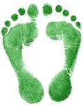 Fußabdruck klein