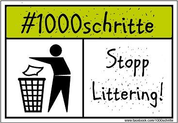 #1000schritte Stopp Littering